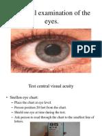 Physical Examination of the Eyes