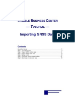 Tutorial 2. Importing GNSS Data