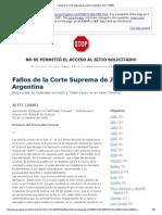Fallo Comunidad Homosexual Argentina