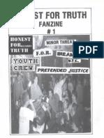 Honest for Truth Fanzine #1