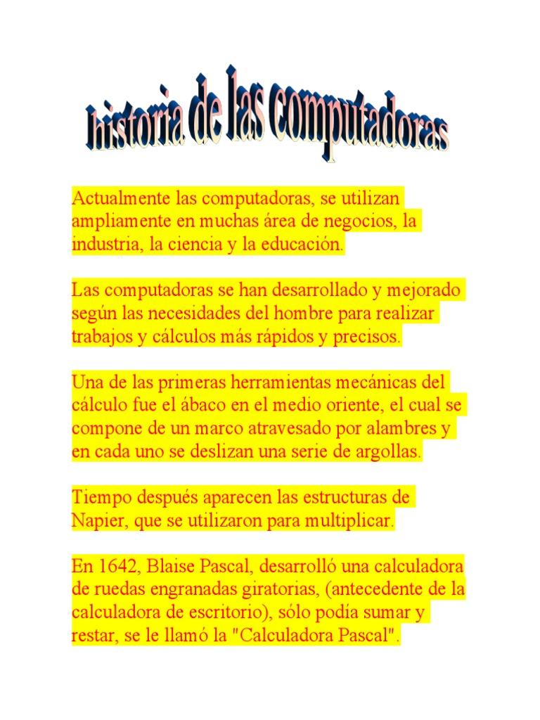 Historia de Las Computadoras Tobias de Filippis
