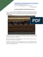 Rohingya Representative Briefed at United Nations in Geneva