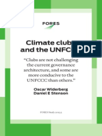 Climate clubs and the UNFCCC - FORES Study 2013:3