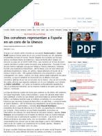 Dos coruñeses representan a España en un coro de la Unesco