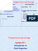 Transportation and Storage Handout 4