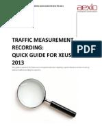 Aexio Xeus Pro 2013 TMR Quick Guide