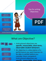 tips for writing objective