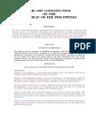 Philippine Constitution of 1987