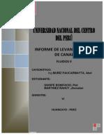 Informe Del Levantaientto Del Canal