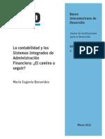 La Contabilidad y Los Sistemas Integrados de Administracion Financiera- El Camino a Seguir