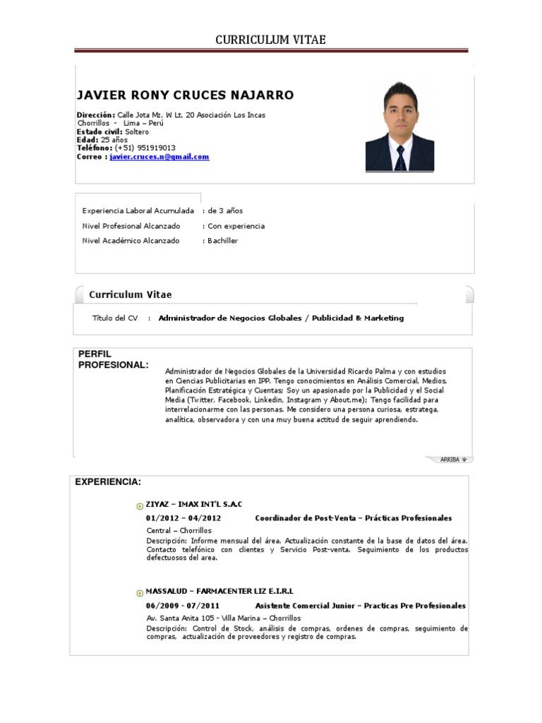 Asombroso Experiencia De Prácticas En Currículum Imágenes - Ejemplo ...
