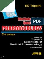 KD Tripathi - MCQs in Pharmacology