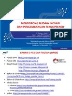 Budaya Inovasi dan Pengembangan Teknoprener 2013 - Tatang A. Taufik