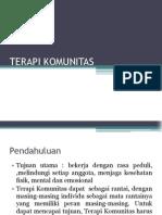 TERAPI KOMUNITAS