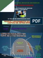 Tecnicas y Procedimientos Aplicables a La Auditoria Del Sistema Informatico