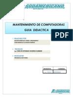 GUIA DIDACTICA DE MANTENIMIENTO DE COMPUTADORAS