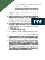 Ejercicios de Distribuciones de Probabilidad de Variable Aleatoria