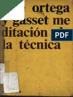 53083456 Meditacion de La Tecnica Jose Ortega y Gasset Atek