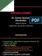 HIPOGLICEMIA. Dr. Guevara.ppt