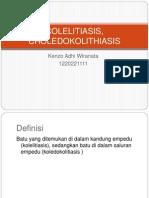 COLELITIASIS, CHOLEDOKOLITHIASIS
