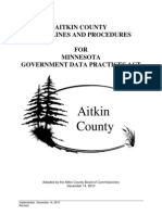 Aitkin County MGDPA Data Practices Procedures