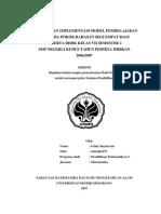 Keefektifan Implementasi Model Pembelajaran Rme Pada Pokok Bahasan Segi Empat Bagi Peserta Didik -1