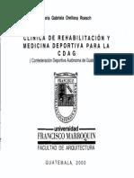 Clinica de Rehabilitacion y Medicina Deportiva Para La Cdag
