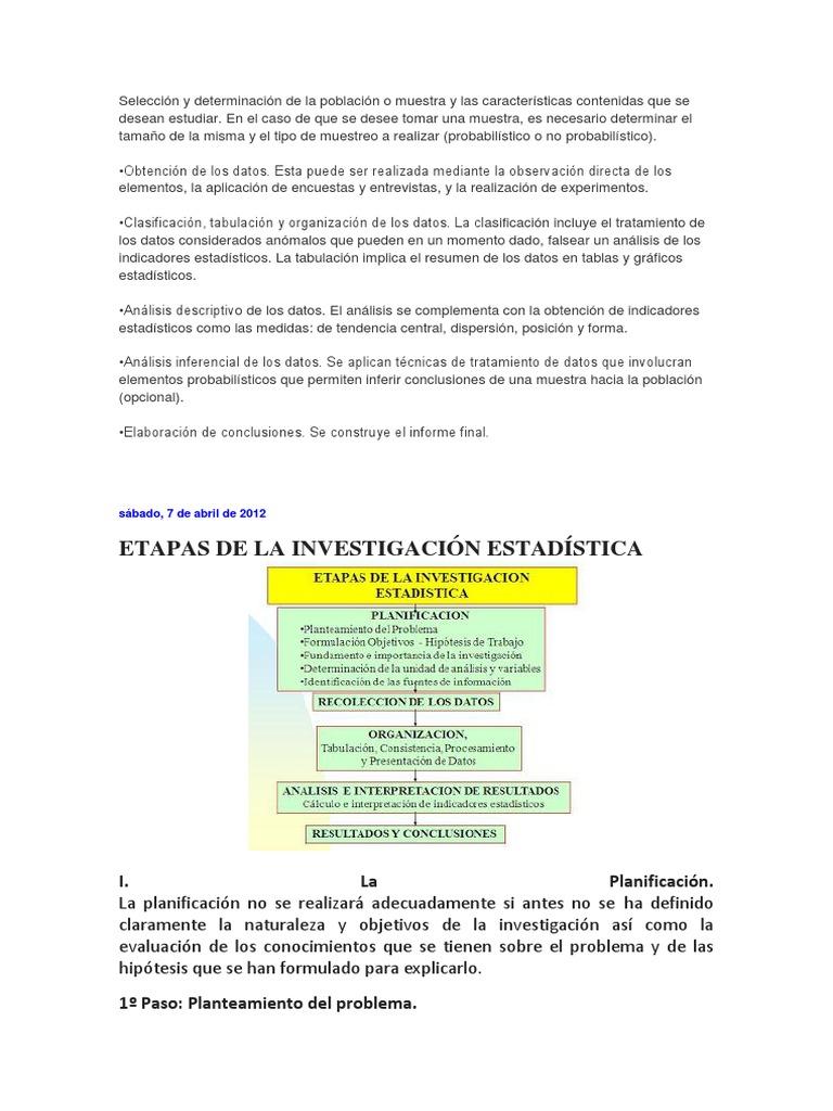 Selección y determinación de la población o muestra y las ...
