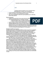 Population Genetics Learning Goals f13