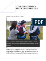 EX MILITAR PIDE PERDÓN A FAMILIARES DE DESAPARECIDOS