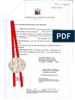 Red Ribbon MOFA - Attested (UAE)