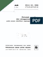 SPLN 64_1985 Petunjuk Pemilihan Dan Penggunaan Pelebur Pada Sistem Dist TM