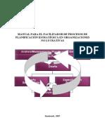 Manual del facilitador de procesos de planificación estratégica en ONGs
