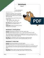 Beginning Consonants Worksheets