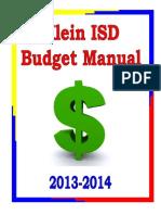 budget manual klein isd