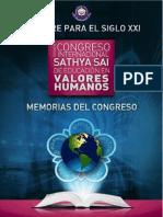Memorias Del Congreso de Valores Humanos
