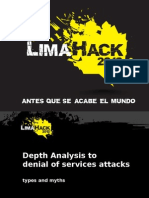 Depth Analysis to Denial of Services Attacks - Types and Myths