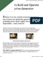 Induction Genenerator