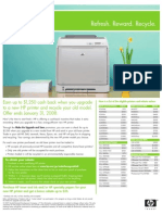 Earn up to $1,250 cash back when you upgrade to a new HP printer and recycle your old model (Exp. Jan. 31 2008)