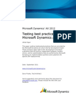Testing Best Practices for Microsoft Dynamics AX 2012