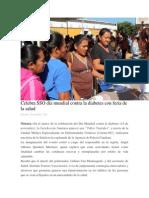 20/11/13 oaxaca-digital Celebra SSO día mundial contra la diabetes con feria de la salud