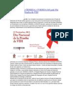 22/11/13 e-oaxaca Implementarán CENSIDA y COESIDA del país Día Nacional de la Prueba de VIH