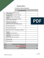 Business Plan Cash Flow Projection Worksheets
