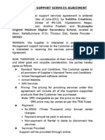 Technical Support Services Agreement-New