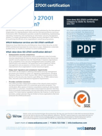 Datasheet Websense Iso27001 Certification
