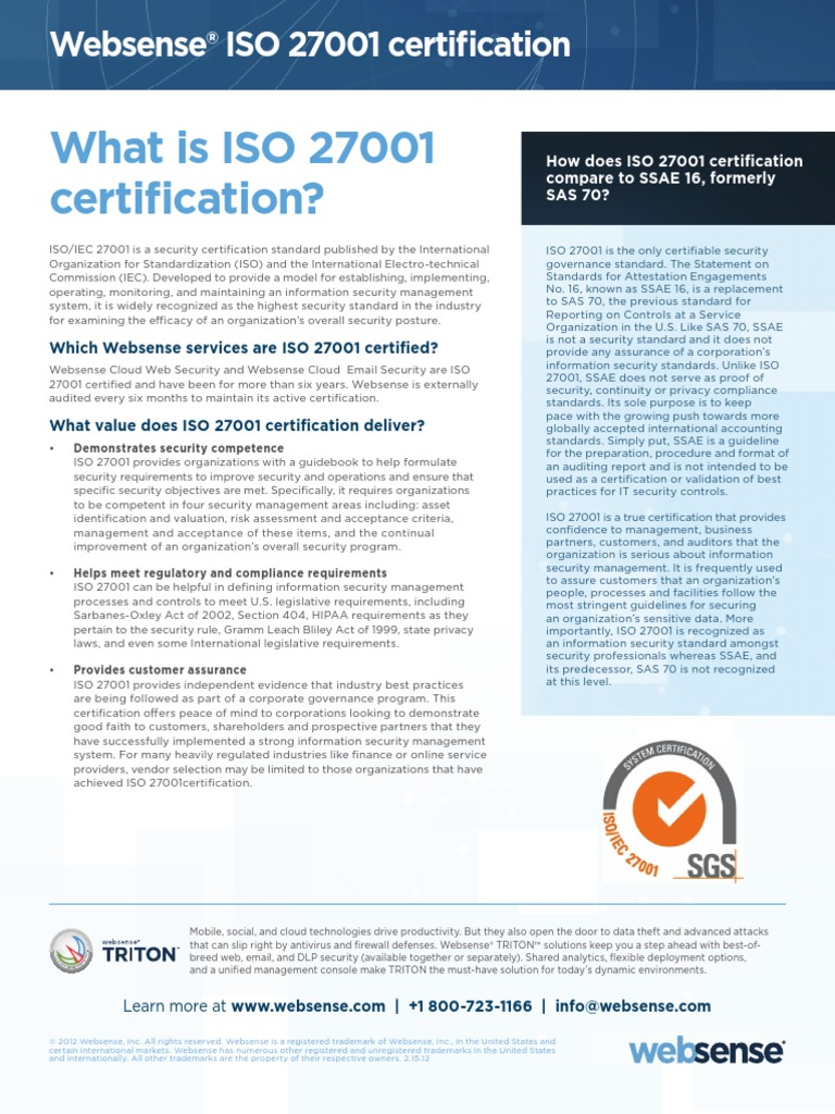 Datasheet websense iso27001 certification information security datasheet websense iso27001 certification information security audit xflitez Images