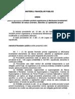 Ordin Nr. 2861 Inventarierea
