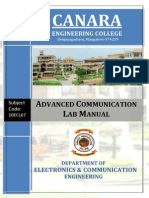 Advanced Communication Lab Manual-10ecl67.