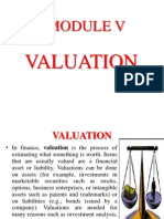 Valuation Mergers and acquisition