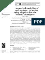 The Numerical Modelling of Ceramics Subject to Impact Using Adaptive Discrete Element Techniques